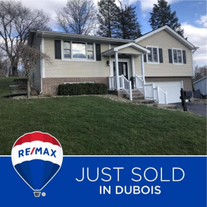 Congratulations to Ross and Jane Adair of the sale of your home from Lori Nicholson Srock and ReMax Select Group , DuBois Pennsylvania! Thank you for trusting us with your real estate needs during these difficult times! Good luck in your new home, photo