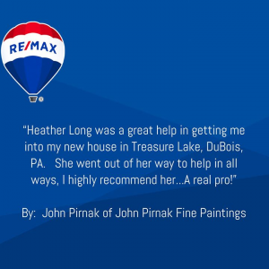 Thank you for the kind words John, it was my pleasure helping you find your home here in DuBois from Heather Long! photo